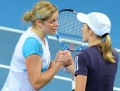 Kim Clijsters a castigat turneul de la Brisbane in fata compatrioatei Justine Henin - VIDEO
