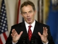 Tony Blair, premiat de Bush